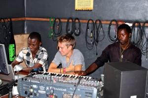 volunteers Brian in studio