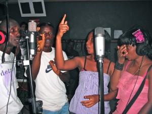 studio girls and guys recording