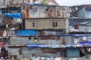 stacked shacks